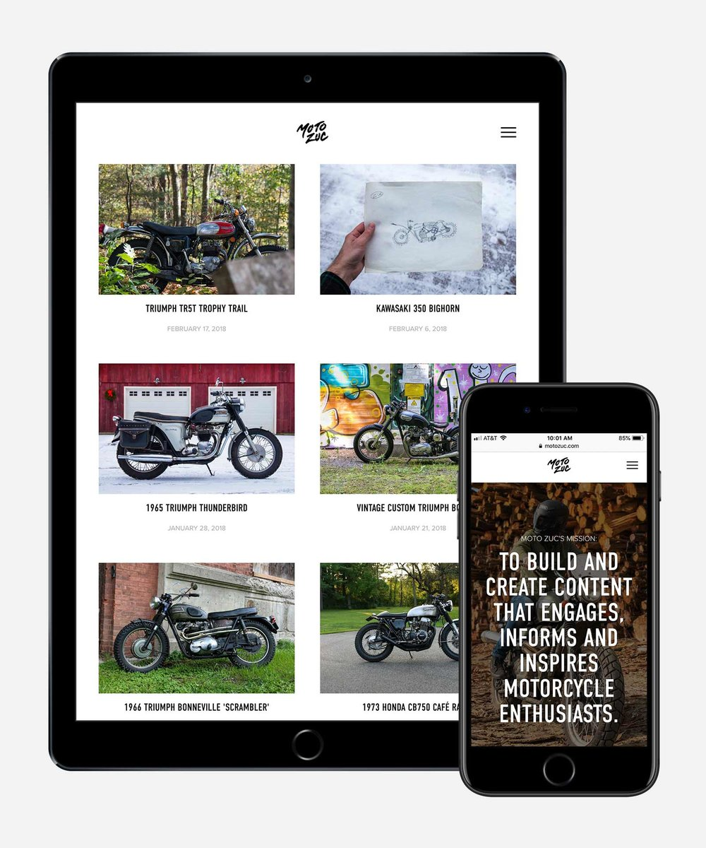 Vintage motorcycle blog and journal website