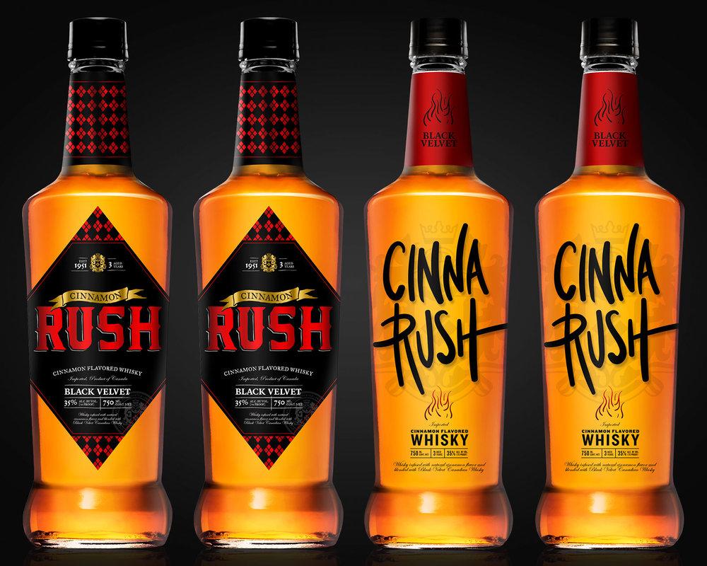 Label designs for whisky bottles