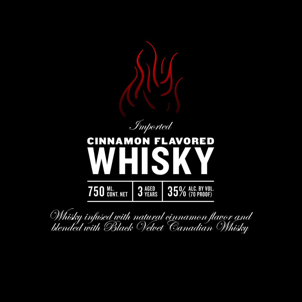 Modern type lockup for a whisky label