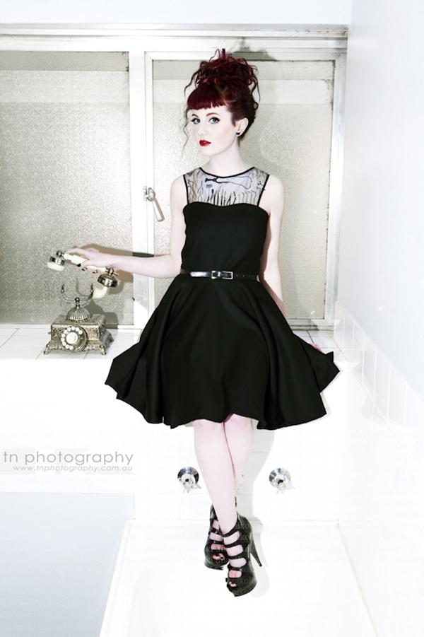 Black surgical dress