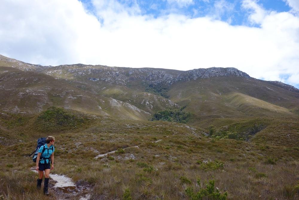 Day 1: Melaleuca to Cox Bight over button grass plains