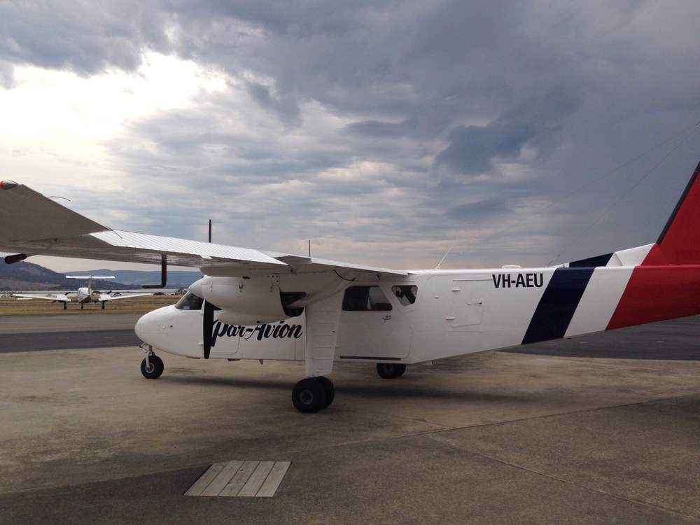 Our tiny little plane