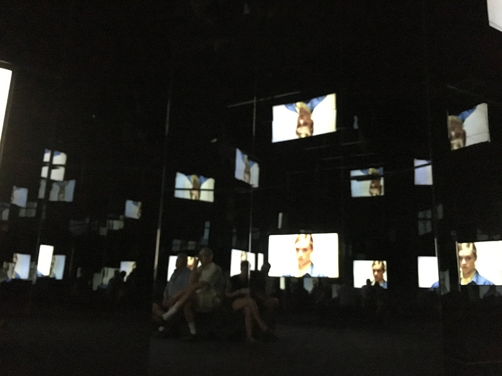 Doug Aitken, Black Mirror, 2011, installation view at MOCA