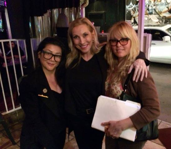Ophelia Chong, Cheryl Shuman and Heather Russell at the first Women Grow event in WeHo.
