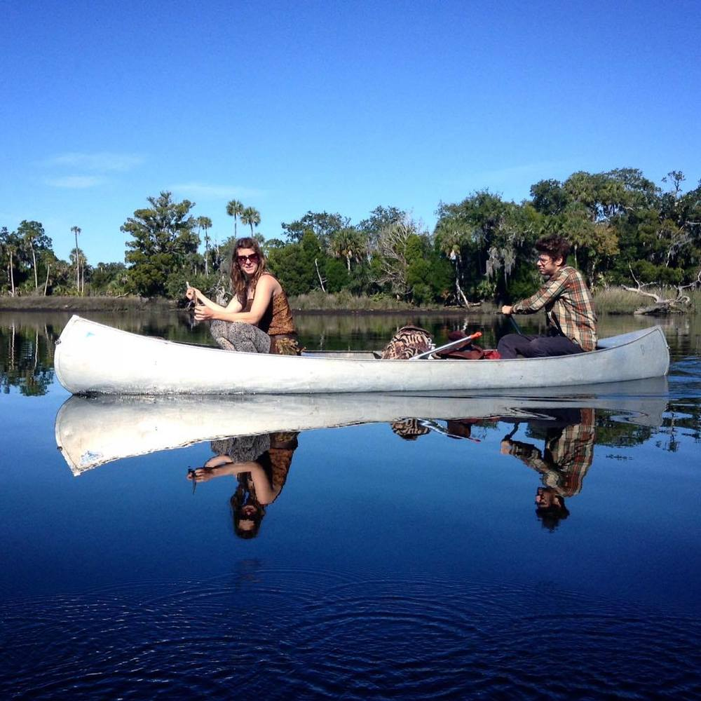 Canoeing to Treasure Island