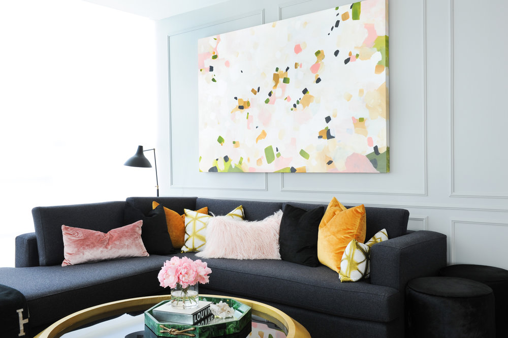 Interior Design By Chrissy Cottrell: principal designer at Curated Home By Chrissy & Co.  Yaletown condo renovation.