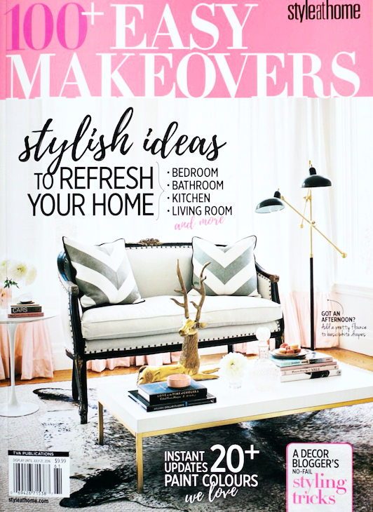 Chrissy & Co featured in 100 Easy Makeovers 2016. Design by Chrissy Cottrell owner of Curated Home Vancouver.
