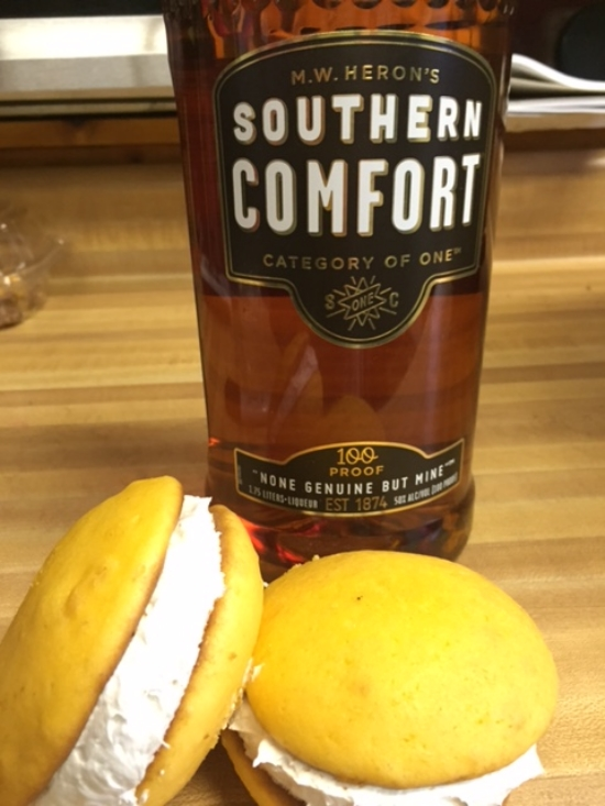 Just Peachy   Peach cookie with Southern Comfort filling