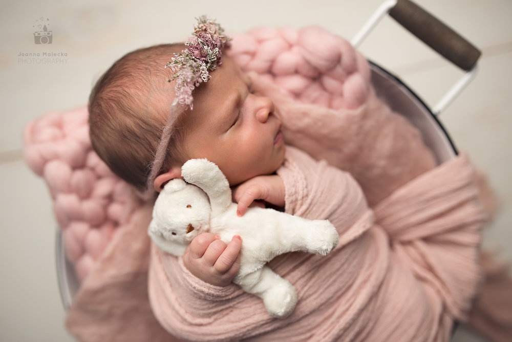 Newborn Photography in basket 2