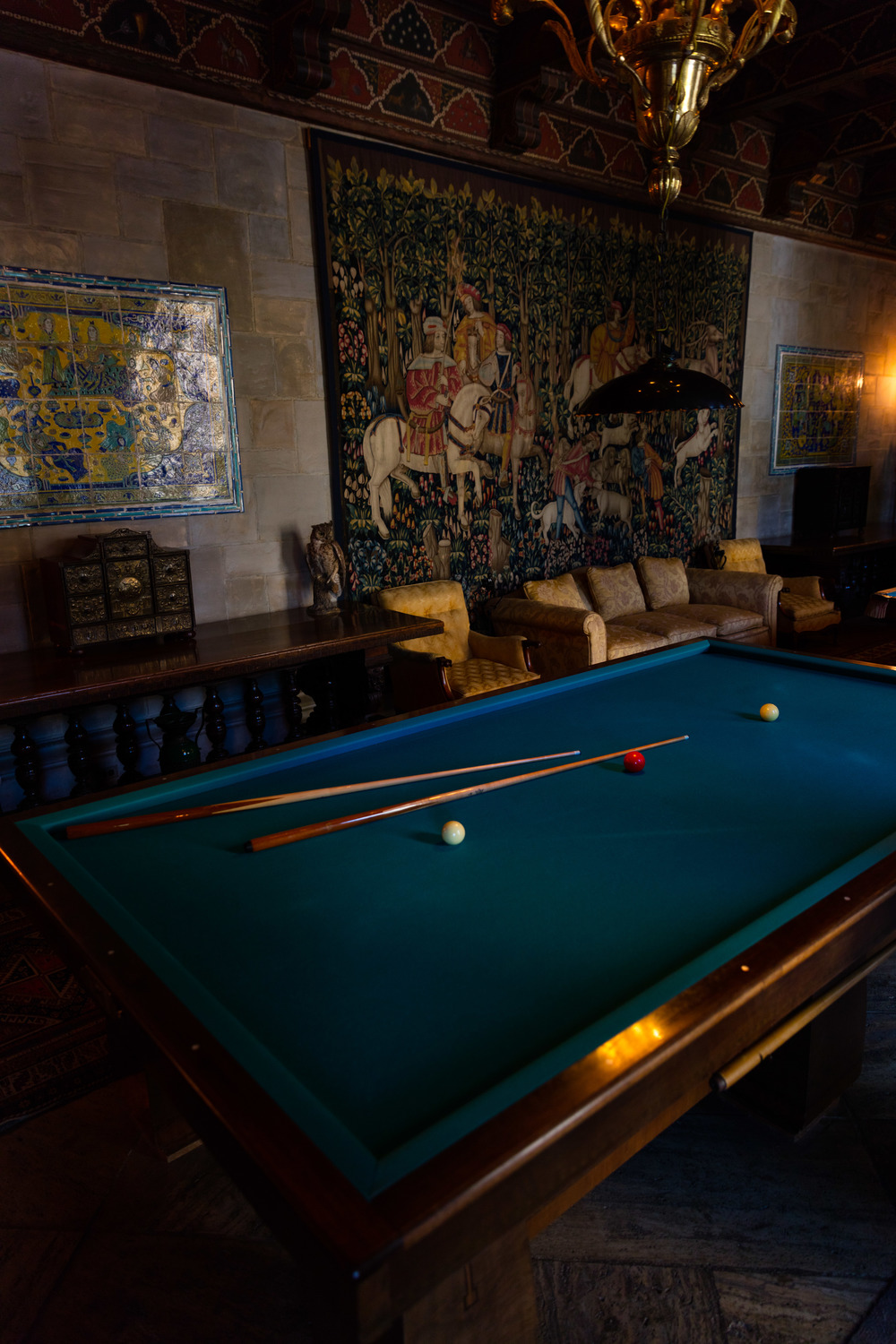 Billiards Room, Casa Grande, Hearst Castle