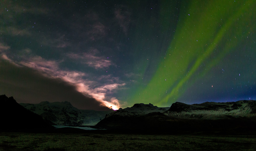 Northern Lights, Skaftafell, Iceland