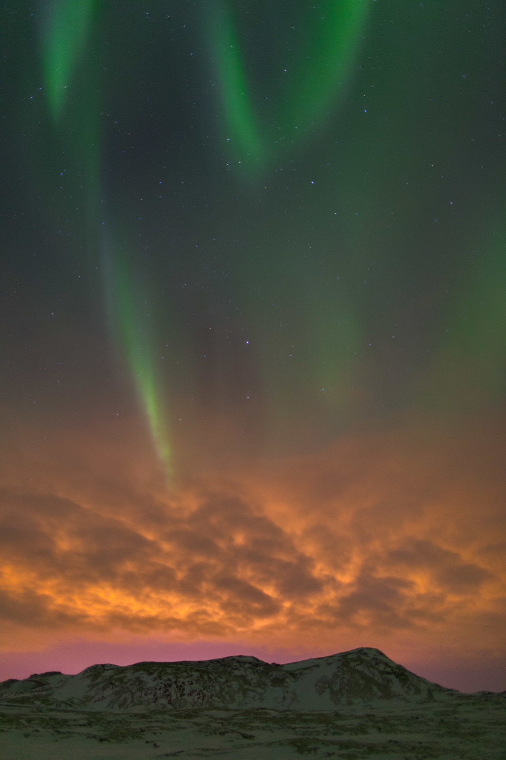 Northern Lights, Reykjavik, Iceland