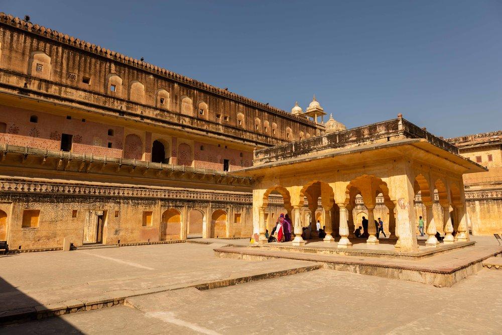 Baradari Pavilion at Man Singh I Palace Square, Jaipur