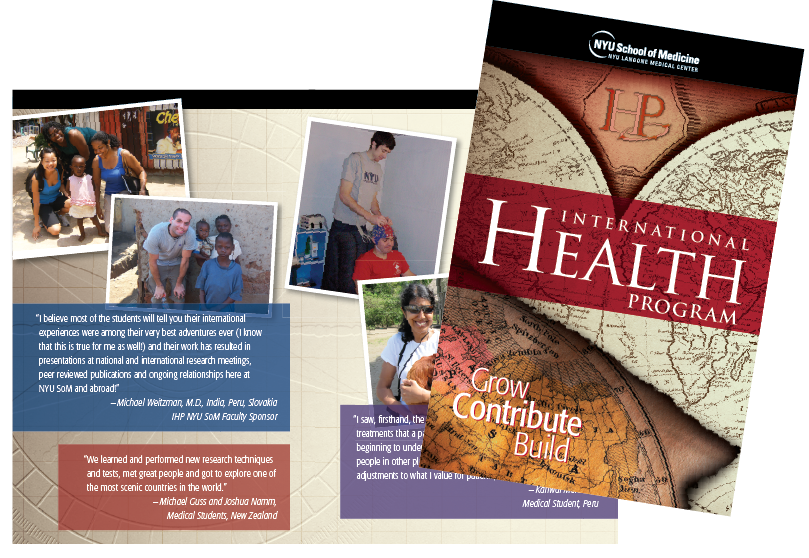 NYU School of Medicine International Health Program Brochure