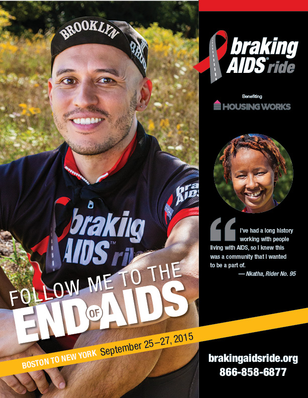 Braking AIDS Ride Ad