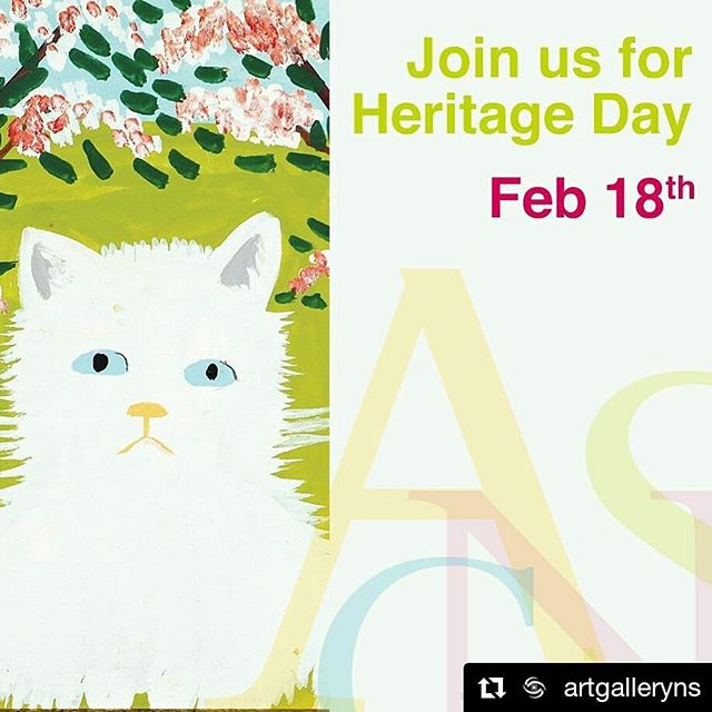 It's Heritage Day in Nova Scotia and this year we're celebrating an incredible, creative and inspring folk artist, Maud Lewis! . For those of you in the Halifax area - the Art Gallery of Nova Scotia is hosting a whole day of Maud Lewis fun and there's still time to join in on their events! . #Repost @artgalleryns (@get_repost) ・・・ Join us on Monday, February 18th as we celebrate Maud Lewis on Heritage Day.  The Gallery will have several activities taking place throughout the day, including hands-on art making in our studio, Sketching in the Gallery, a book reading of Our Maud, and more. Visit our website for a complete list of activities and programs. . . . Image: Maud Lewis, White Cat (2) (detail) #haritageday2019 #maudlewis #maudliveshere #art #novascotia #visitnovascotia