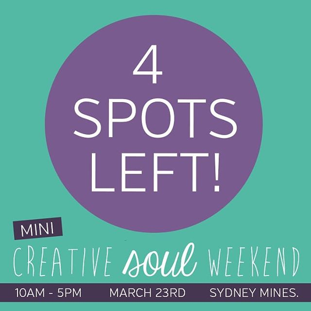 Four spots remaining for our first ever Mini CSW! We're so looking forward to welcoming spring, getting together with everyone and talking rebirth, beginnings and creativity! Interested? Click the link in our bio to learn more ✌ . . . #minicsw #itsgoingtobesofun #wedlovetohaveyou #capebreton #creativesouls #retreat