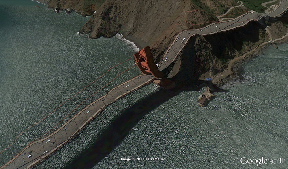 Image from Clement Valla's Postcards from Google Earth. http://www.postcards-from-google-earth.com/