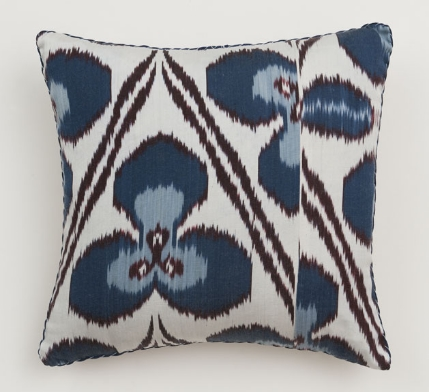 Turquoise Ricard Ikat Pillow