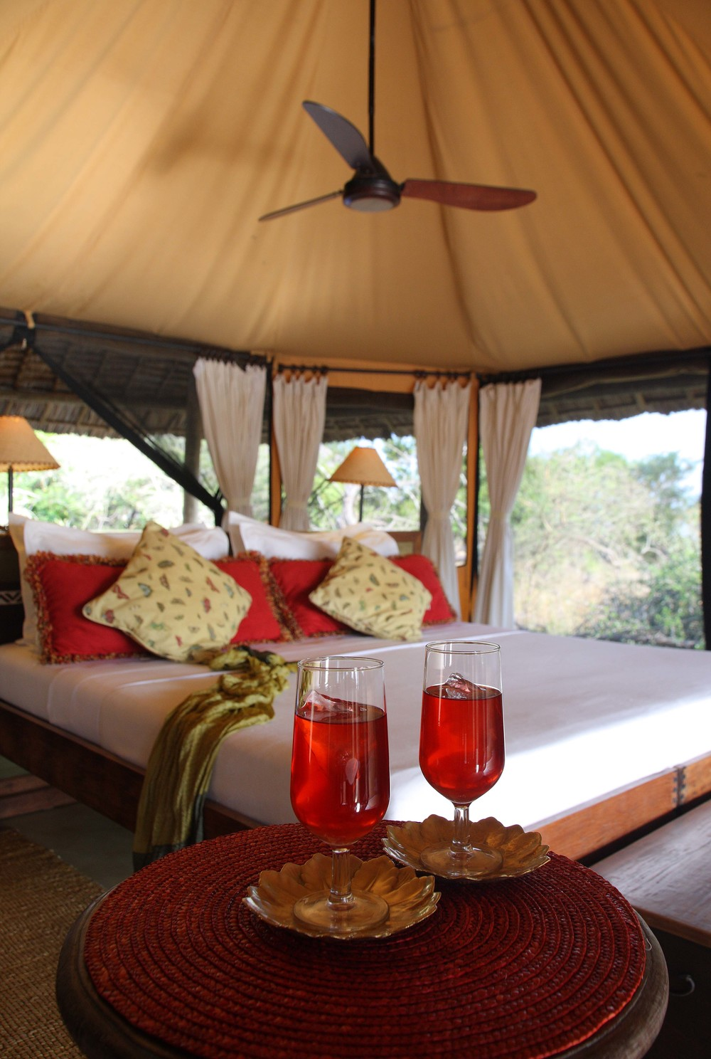 Airy tents complimented by overhead fans in Siwandu.jpg