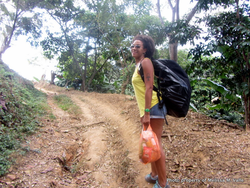 Hike up mountain to Minca, Colombia. Hey, Overpacker! Fml.