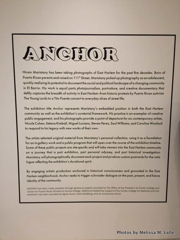 Opening night of ANCHOR at Hunter East Harlem