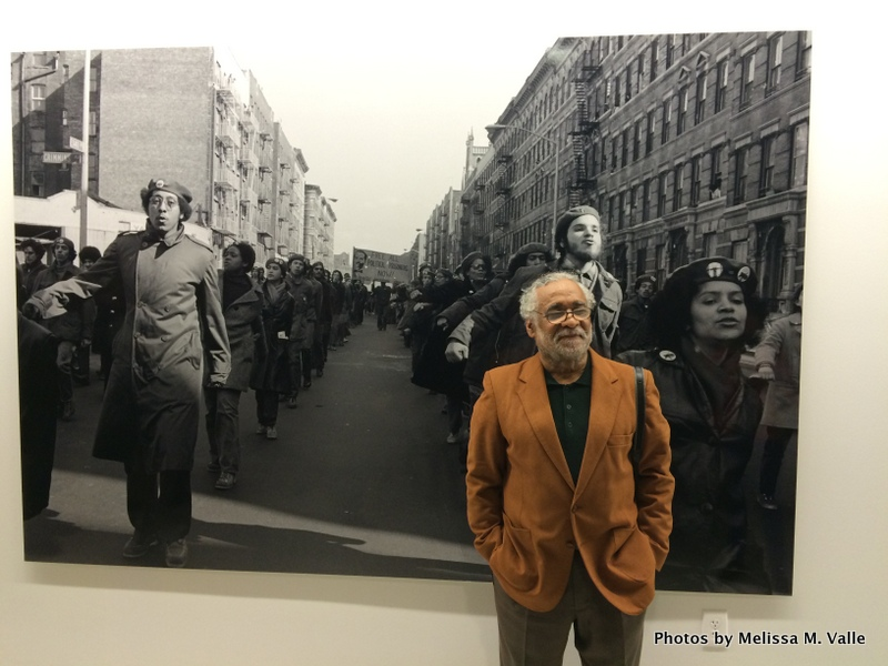 Hiram Maristany in front of one of his amazing photographs