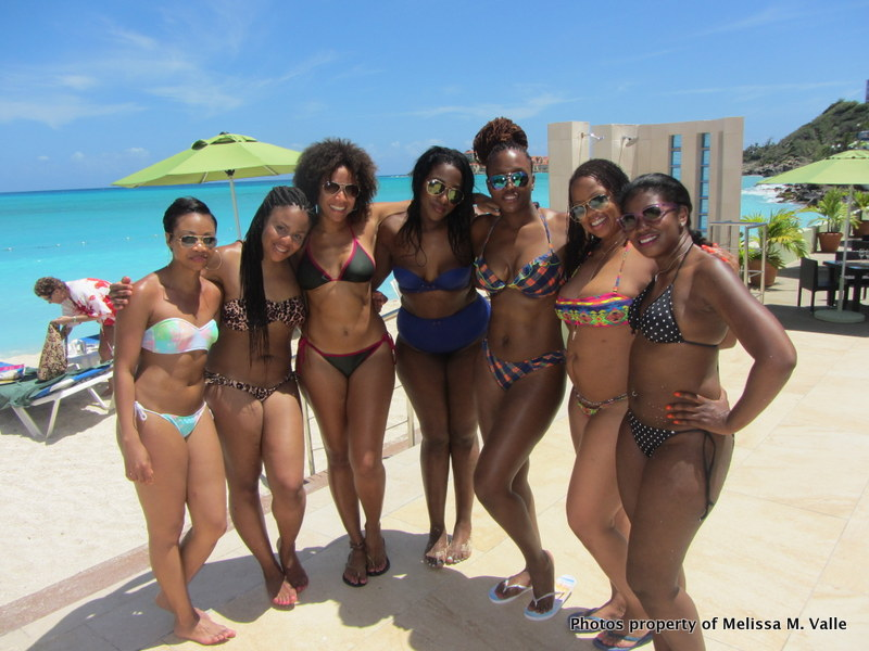 5.23.14 St. Maarten Sonesta Bay Resort Life with the Travel Family (24)- Howard U ladies.JPG