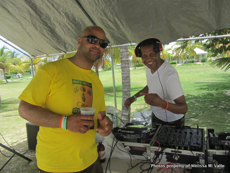 5.24.14 Omar Hamilton's travelfamily beach party in Anguilla — Beach Bar at Anguilla Great House Beach Resort (14) DJs Lab Sounds Chris Chambers and Commish.JPG