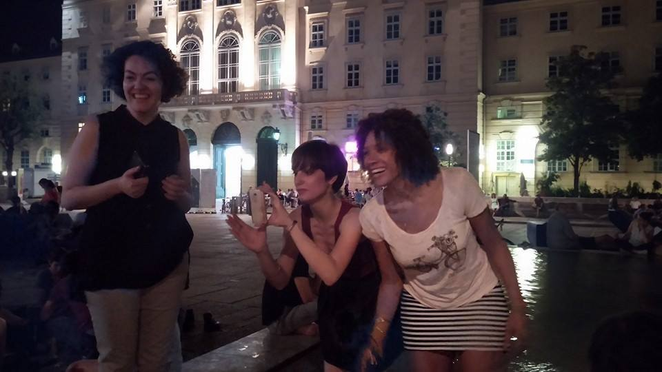 7.7.14 Vienna, Austria-wining it up in Museum Quartier after Amin lecture (13)-001.jpg