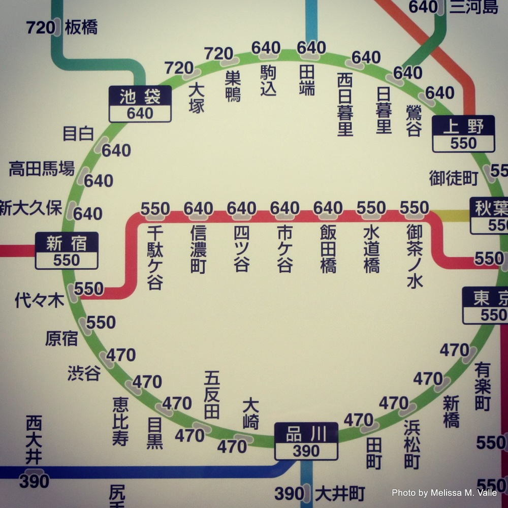Japanese Subway Map