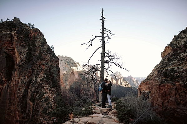 Engagement Session at Angel's Landing in Zion National Park, Utah.