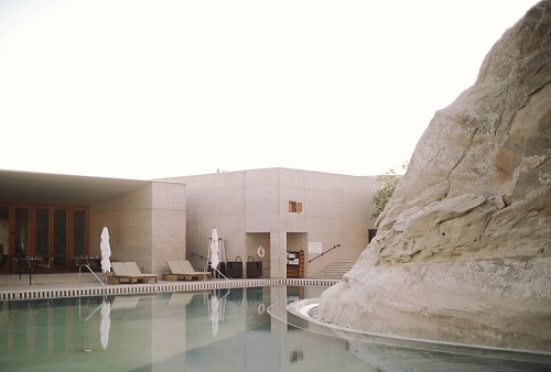 Pool at Amangiri Resort in Utah desert