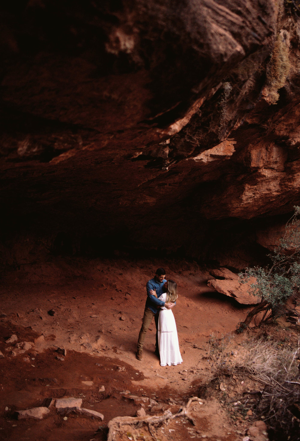 """Karen, about her Zion National Park engagement session:  """"My fiance and I worked with Haley on our engagement photos. We are from Boston and had a pre-planned vacation to Utah and reached out to her after browsing her website and falling in love with her work. From the very beginning Haley was extremely responsive, kind, and helpful. We were not familiar with the area and she made recommendations on where we should shoot and even sent through links to provide directions and more information on the hike! On the day of our shoot, Haley was on time, brought a blanket for me to change behind (haha), and fully engaged! She had wonderful ideas about where to stop and shoot and offered helpful advice on posing, etc. We received all of our photos back within 3 weeks and they are BEYOND anything we could have imaged. Haley is just as talented as she is sweet, which is hard to match! I would highly recommend Haley to anyone for their photography needs. """""""