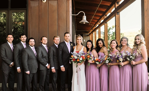 Bridal party in Park City Utah