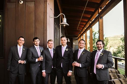 Groom with groomsmen in Park City Utah