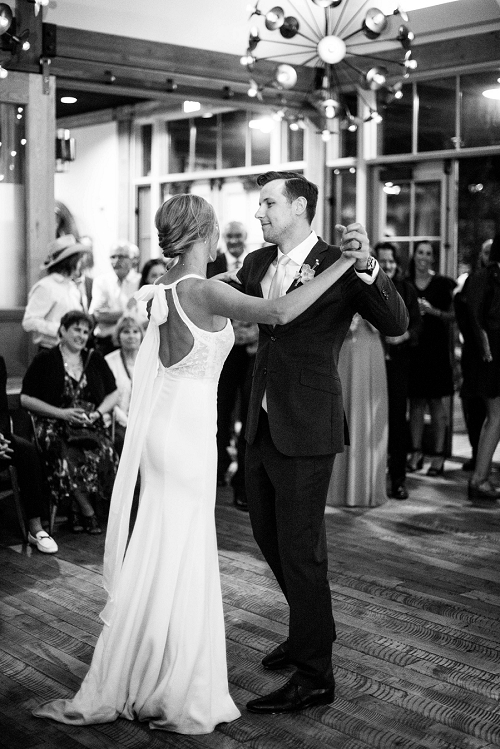 Couple's first dance in Park City Utah