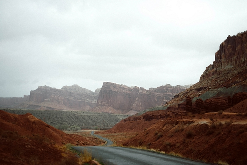 Capitol Reef National Park on a Rainy Day