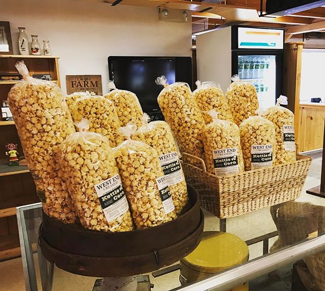 Fresh made for opening weekend! #westendcreamery #kettlecorn
