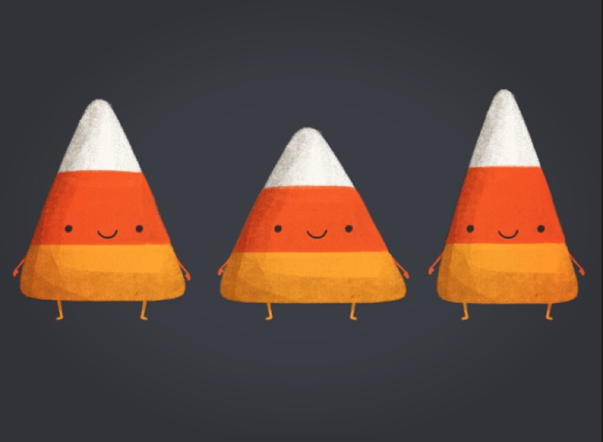 The Candy Corn Trio.