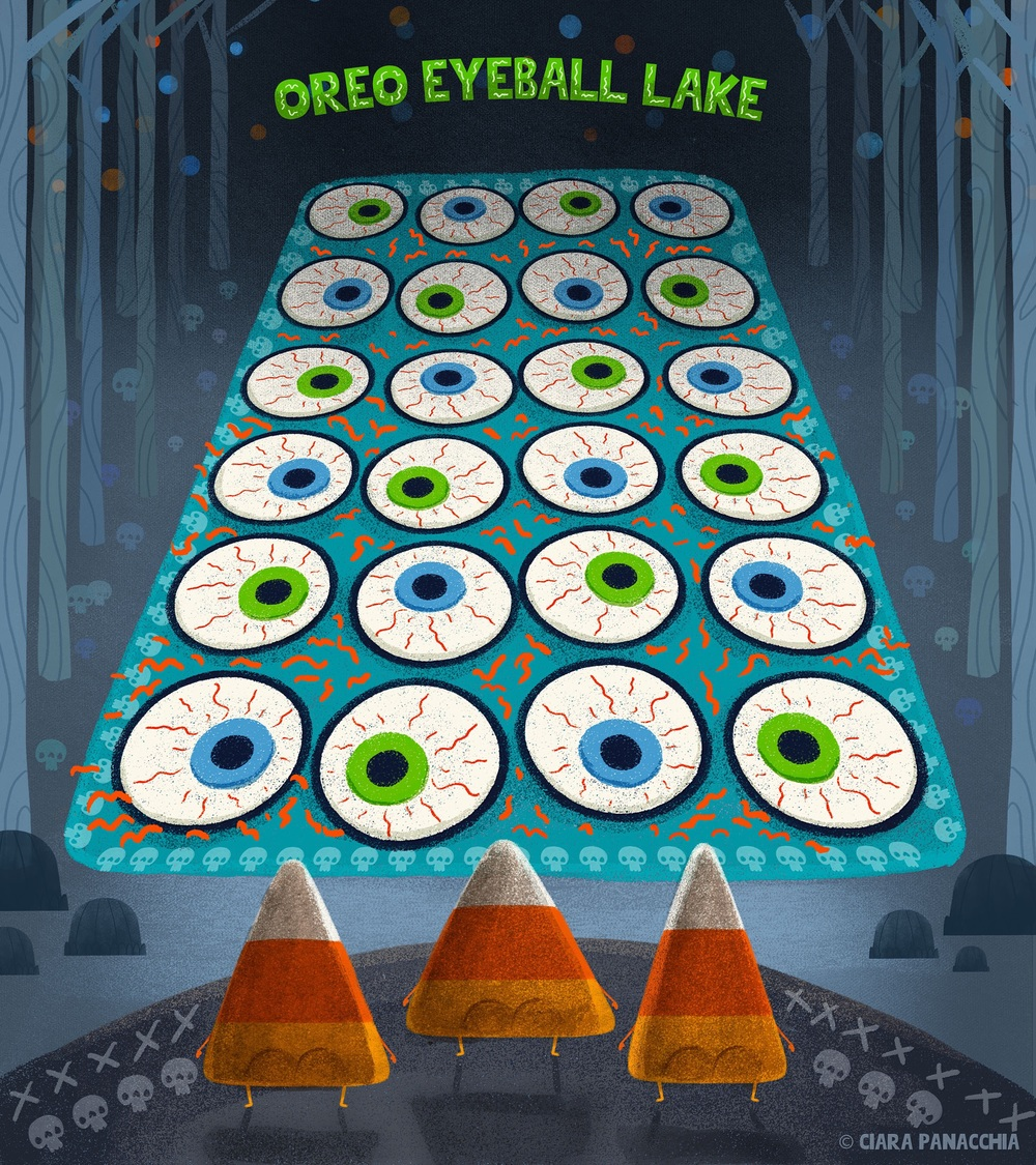 Oreo eyeball lake