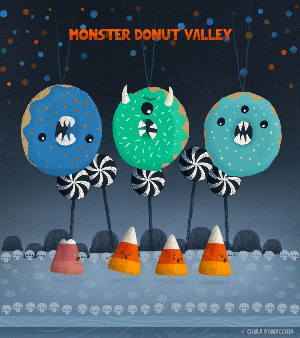 Running through monster donut valley.