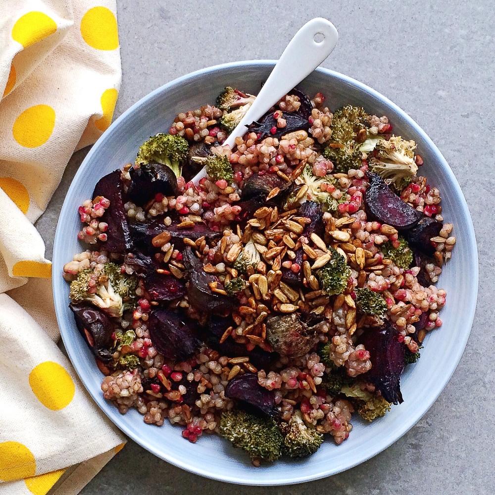 Curried Buckwheat & Charred Broccoli Salad