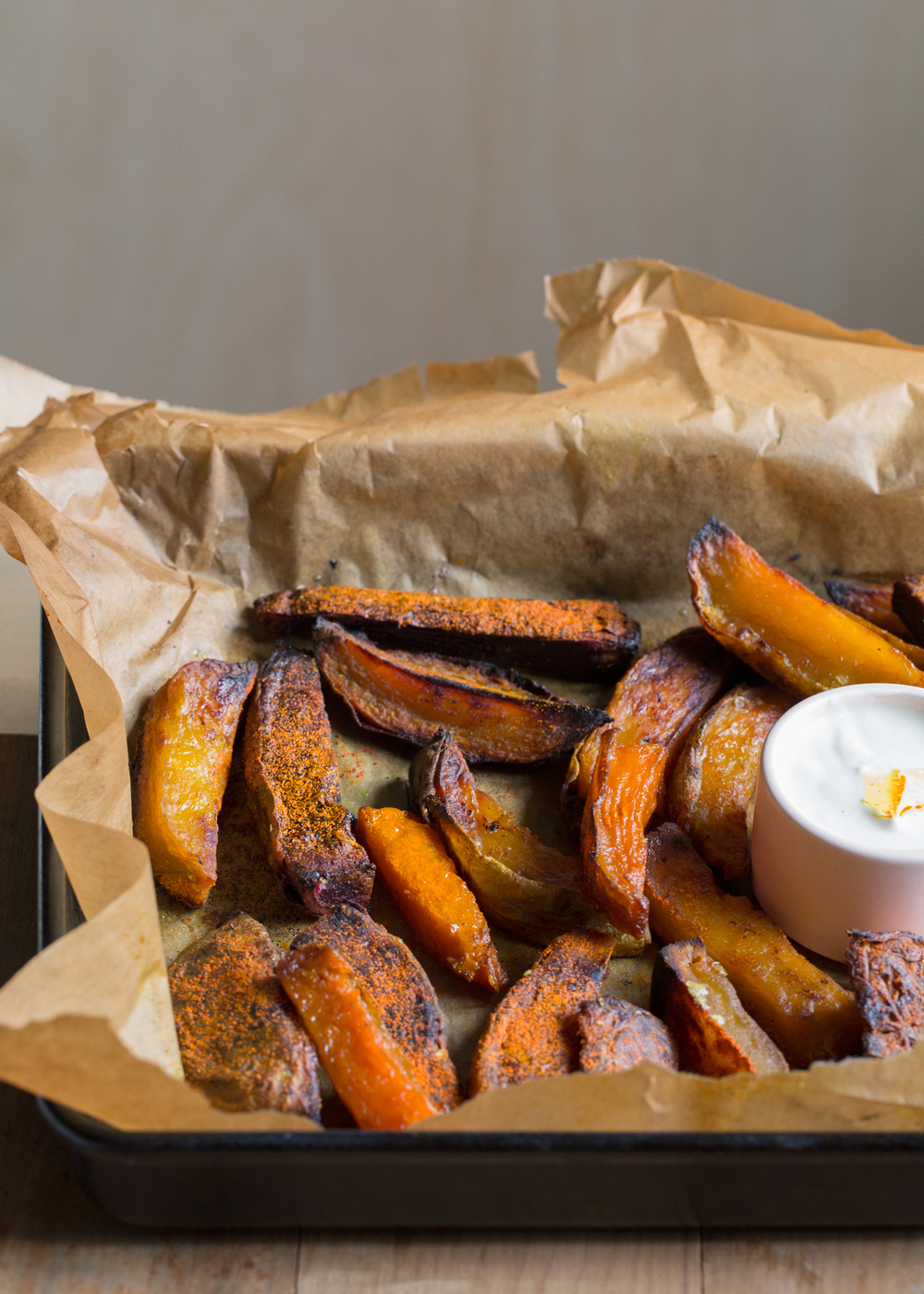 turmeric fries with cashew aioli:  the unbakery app