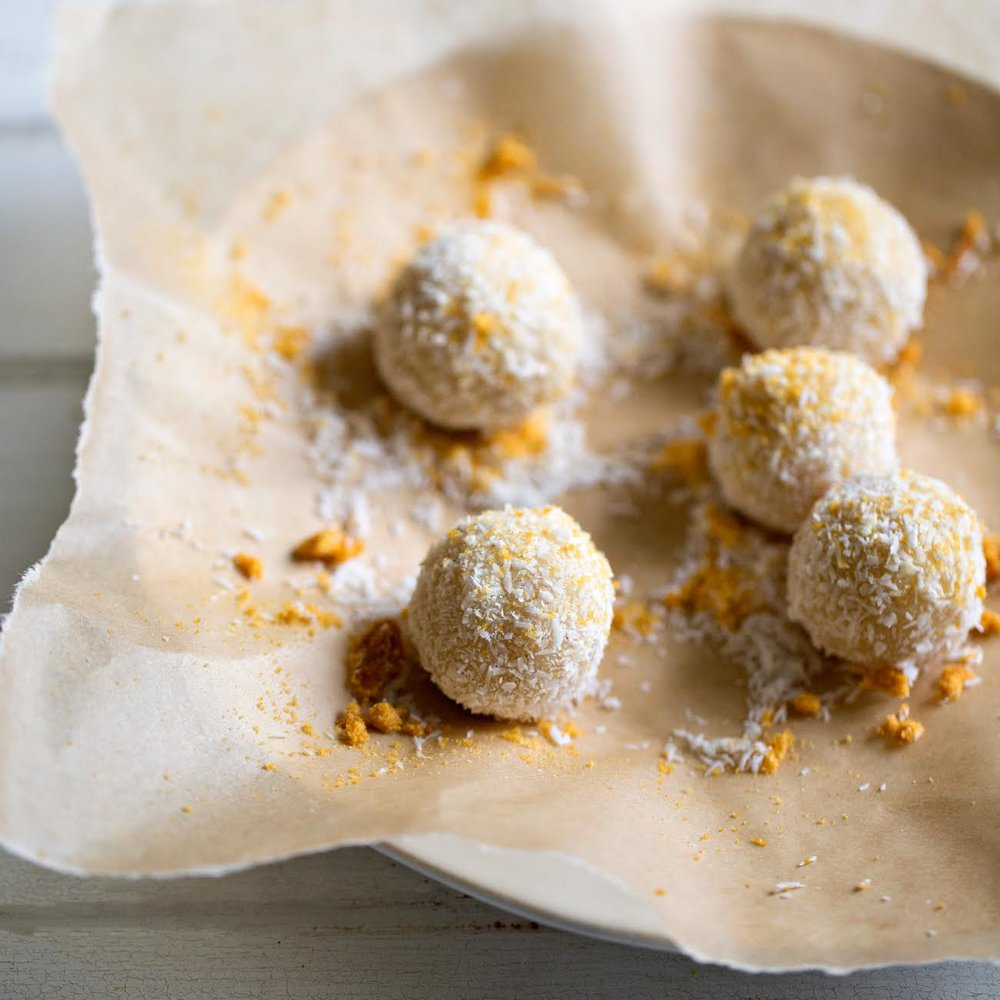 White Chocolate and Cardamom Truffles