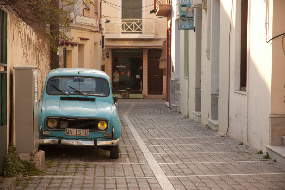 Lonely car in Greece