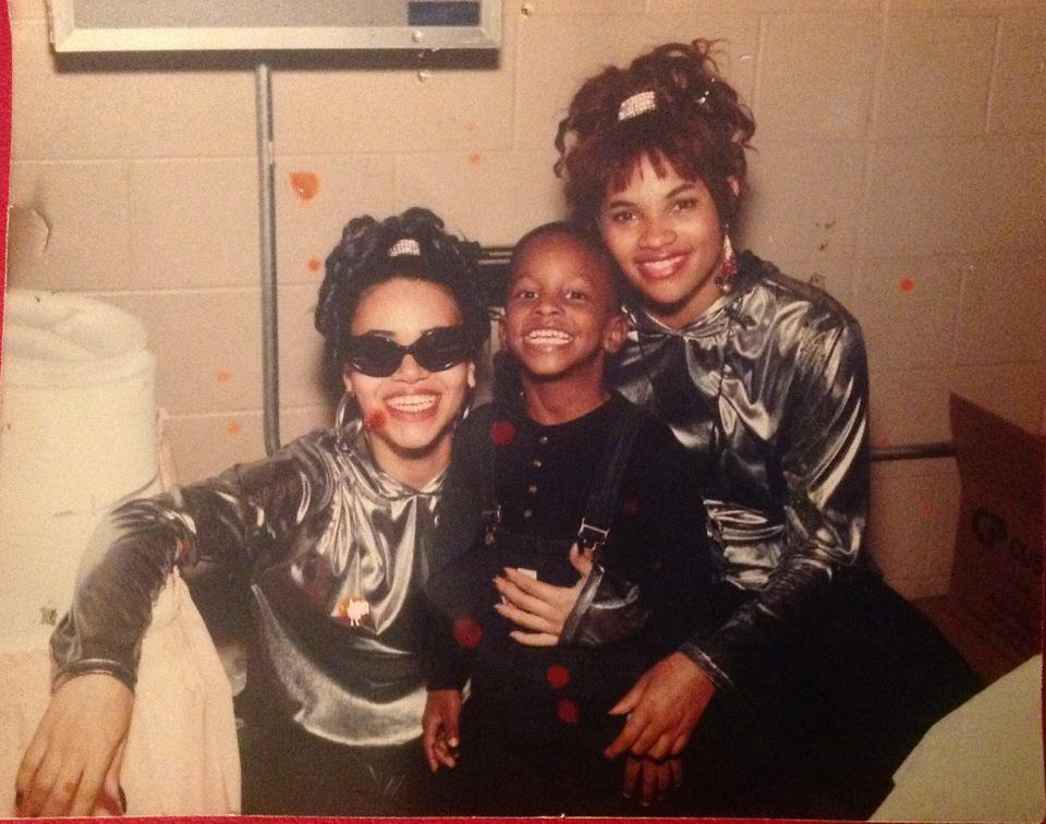 Scott backstage with Hip-Hip Duo Salt N' Pepa