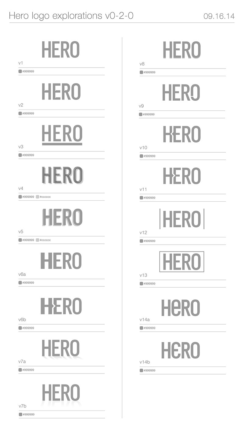 Hero Digital Logo Study