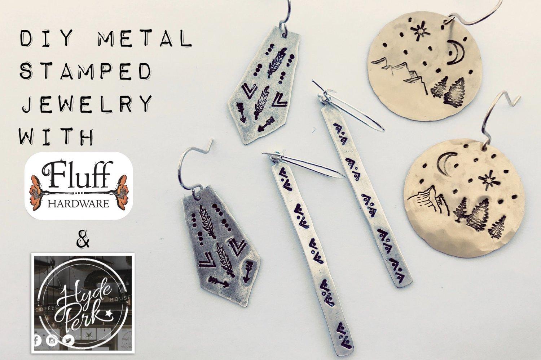 Fluff Jewelry Diy Metal Stamped Jewelry W Fluff Hardware