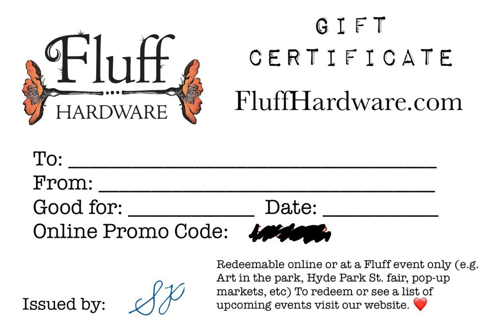 Gift Certificates - Need some Hardware but don't know what to get? We've got your stress free solution. Have a printable gift card emailed, shipped, or pick-it up from our lock box in Garden City. Have it in hand in as little as 1 hour!